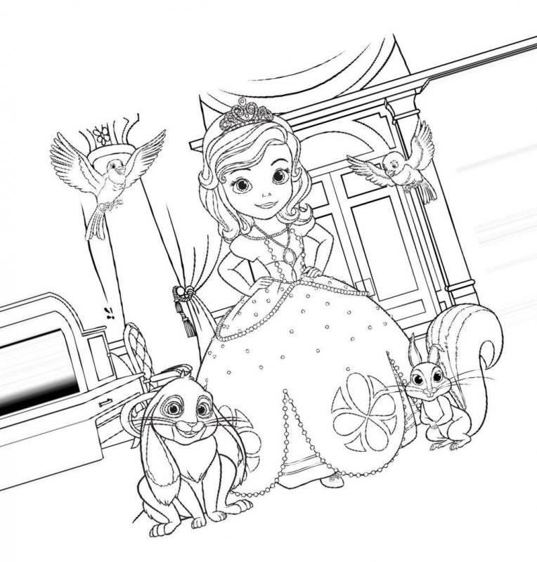 Desene Cu Prințesa Sofia De Colorat Planșe și Imagini De