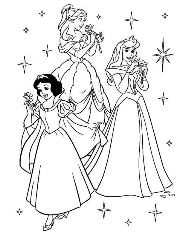 Desene Cu Prințesele Disney De Colorat Planșe și Imagini De