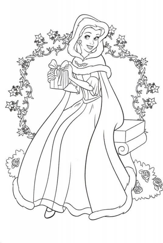 Desene Cu Prințesa Belle De Colorat Planșe și Imagini De