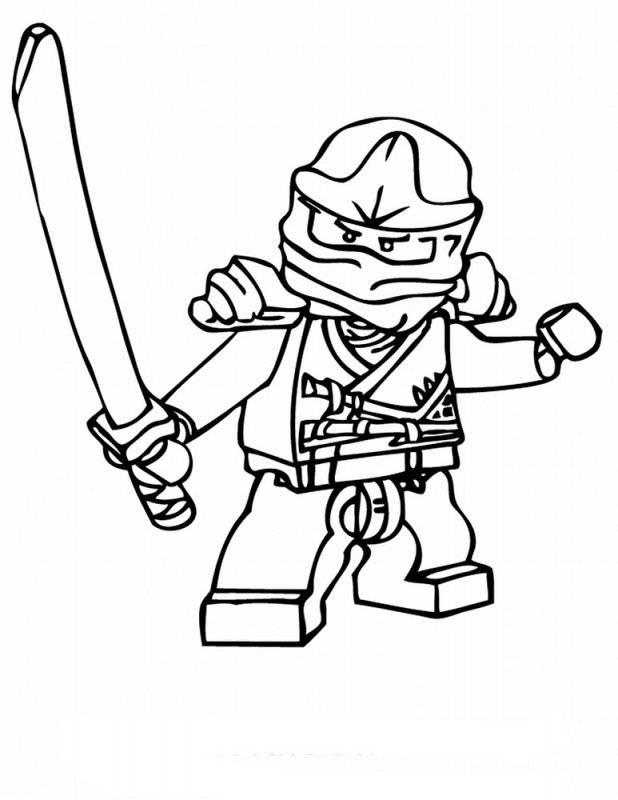 Desene cu lego ninjago de colorat