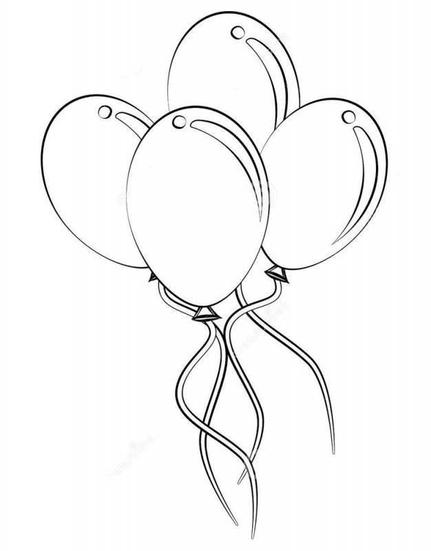 Desene Cu Baloane De Colorat Planșe și Imagini De Colorat