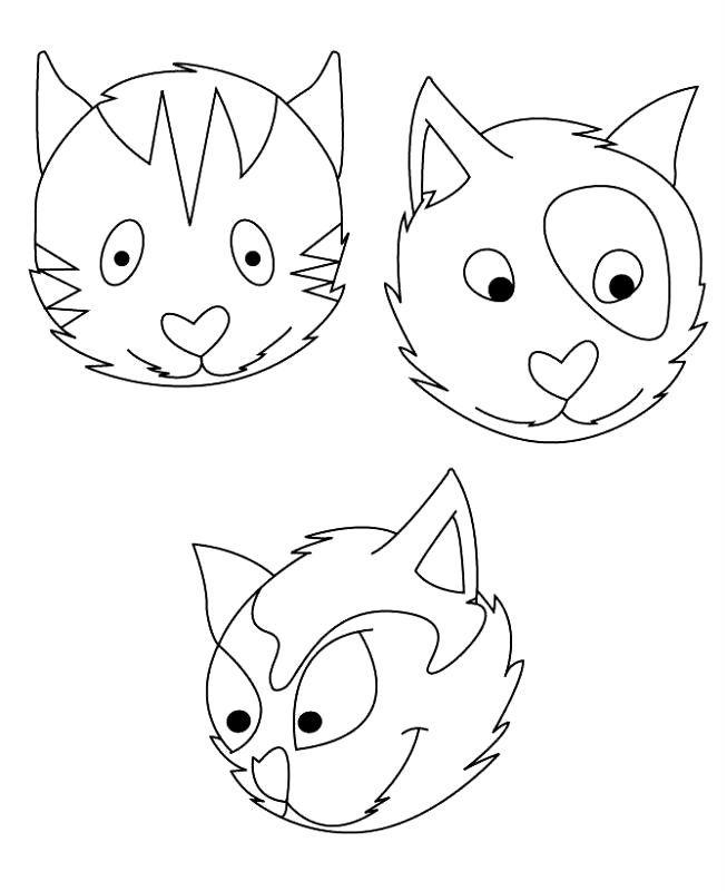 Desene Cu Pisici De Colorat Planșe și Imagini De Colorat Cu