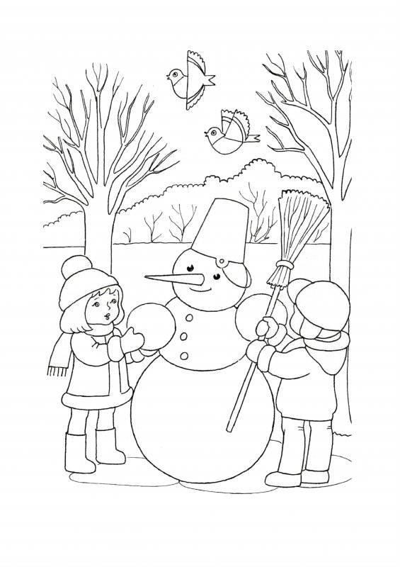 Desene Cu Iarna De Colorat Planșe și Imagini De Colorat Cu