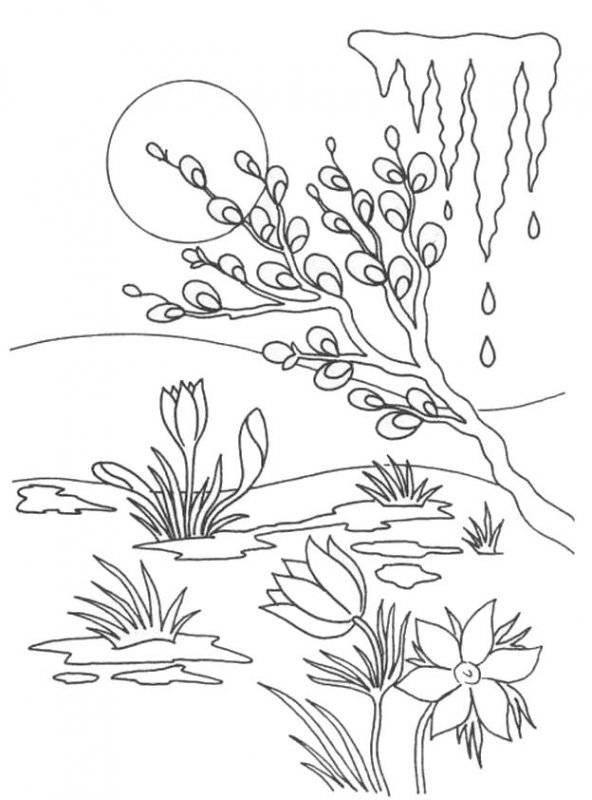 Desene Cu Primavara De Colorat Planșe și Imagini De Colorat
