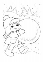 Desene cu iarna de colorat, planșe și imagini de colorat cu iarna