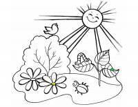 Desene cu vara de colorat, planșe și imagini de colorat cu vara