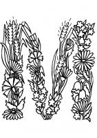 Alfabetul cu flori