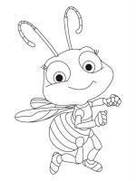 Desene cu albine de colorat, planșe și imagini de colorat cu albine