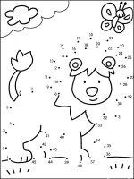 Uneste Punctele și coloreaza planșele, desenele, fișele, imaginile