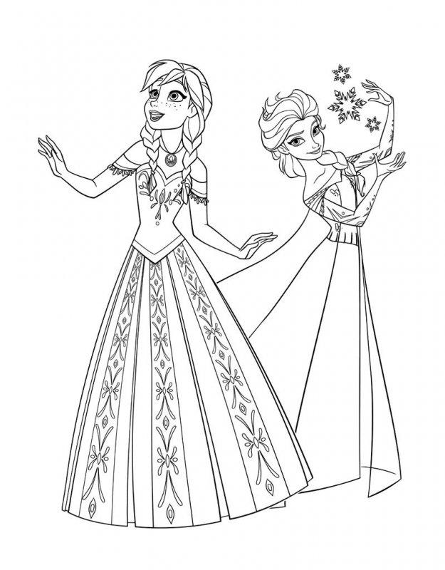 Desene Cu Elsa È™i Ana De Colorat PlanÈ™e È™i Imagini De Colorat Cu Elsa È™i Ana