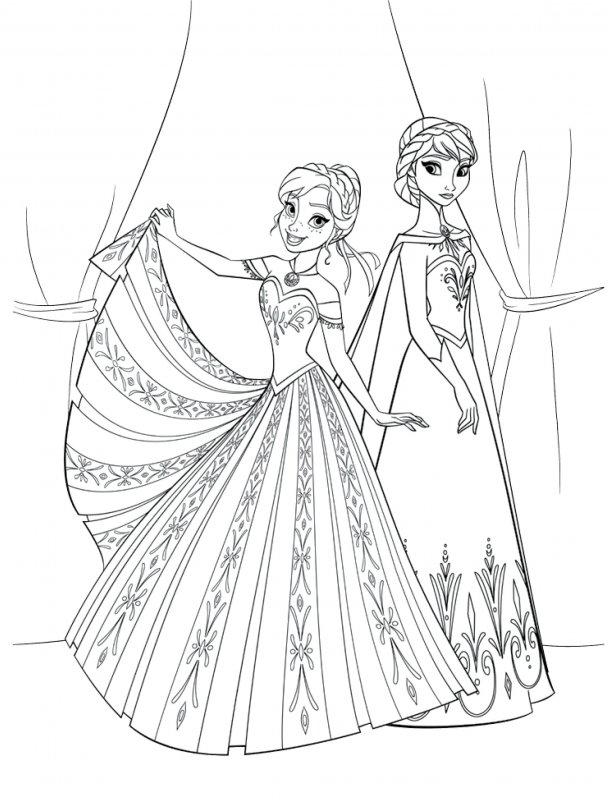 Desene Cu Elsa și Ana De Colorat Planșe și Imagini De