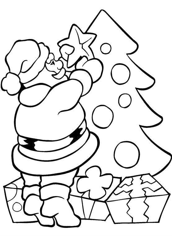 Desene Cu Moș Crăciun De Colorat Planșe și Imagini De
