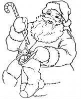 Desene cu Moș Crăciun de colorat, planșe și imagini de colorat cu Moș Crăciun