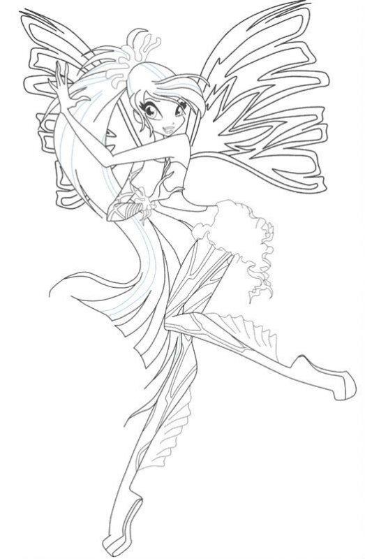 Desene Cu Winx Sirenix De Colorat Imagini și Planșe De