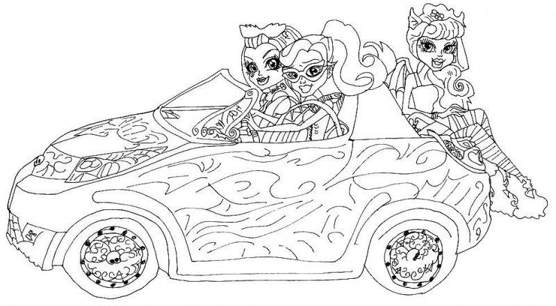 Monster High Desene și Imagini De Colorat Planse și Fișe