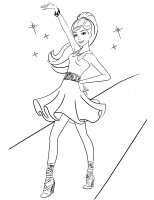 Desene cu Barbie de colorat, imagini și planșe de colorat cu Barbie