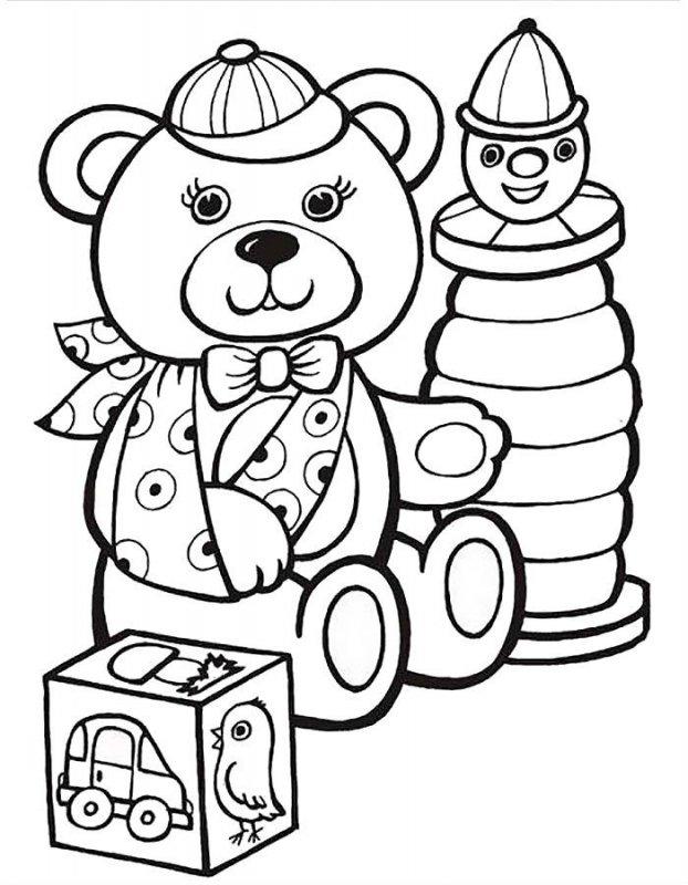 Desene Cu Jucării De Colorat Imagini și Planșe De Colorat