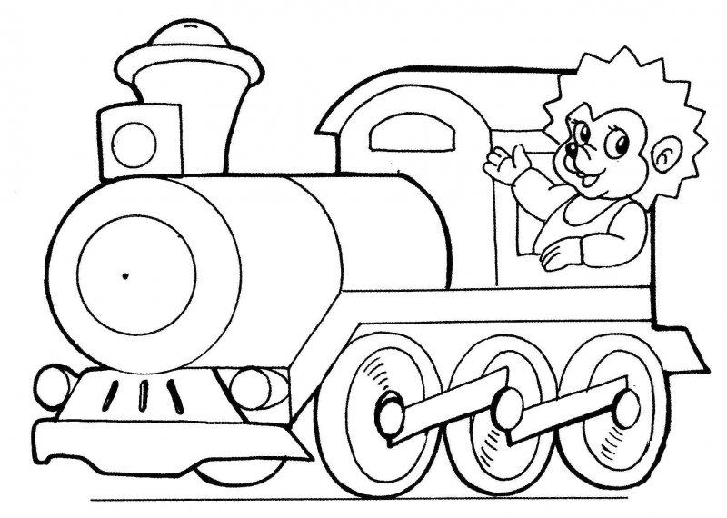 Desene Cu Trenuri De Colorat Imagini și Planșe De Colorat