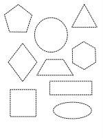 Desene cu Figuri Geometrice de colorat, imagini și planșe de colorat cu forme geometrice