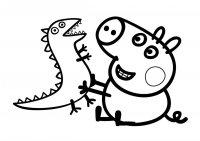 Desene cu Peppa pig de colorat, imagini și planșe de colorat cu Peppa pig