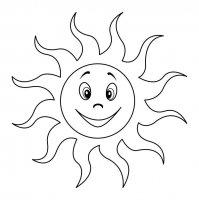 Desene cu Soare de colorat, imagini și planșe de colorat cu Soare