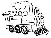 Desene cu trenuri de colorat, imagini și planșe de colorat cu trenuri