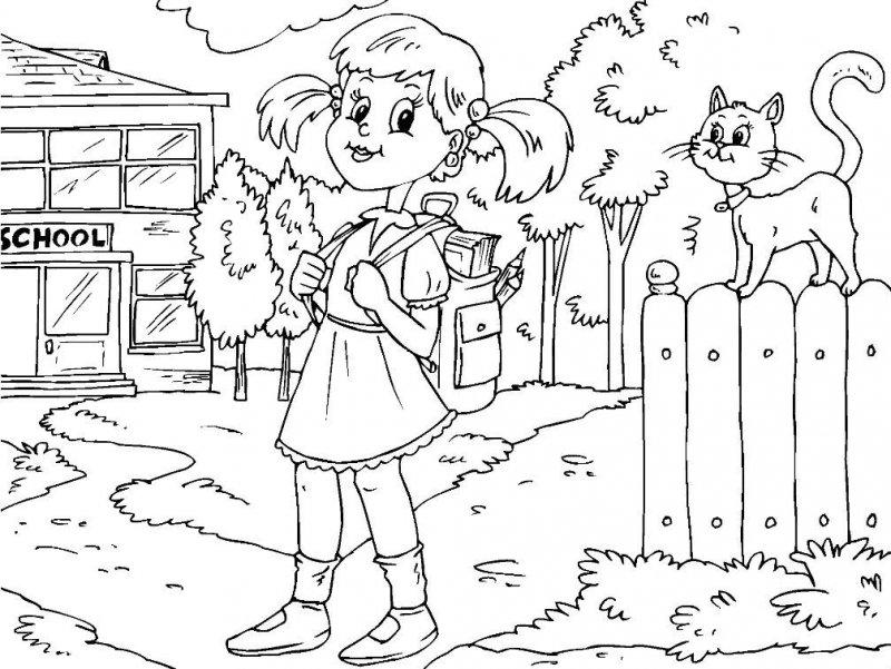 Desene Cu școala De Colorat Imagini și Planșe De Colorat Cu