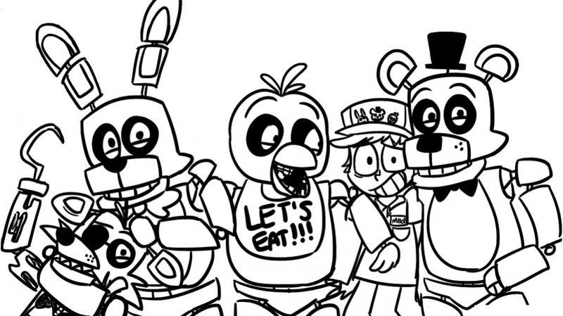 Desene Cu Five Nights At Freddys De Colorat Imagini și