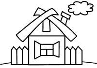 Desene cu case de colorat, imagini și planșe de colorat cu casă