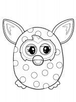 Desene cu Furby boom de colorat, imagini și planșe de colorat cu Furby boom