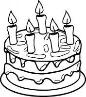 Desene cu Tort de colorat, imagini și planșe de colorat cu tort