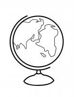 Desene cu Globul Pamantesc de colorat, imagini și planșe de colorat cu globul pamantesc