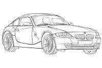 Desene cu Masini BMW de colorat, imagini și planșe de colorat cu masini BMW