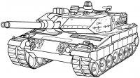 Desene cu Tancuri de colorat, imagini și planșe de colorat cu tancuri