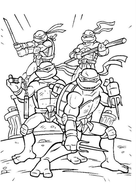 Desene Cu Testoasele Ninja De Colorat Imagini și Planșe De