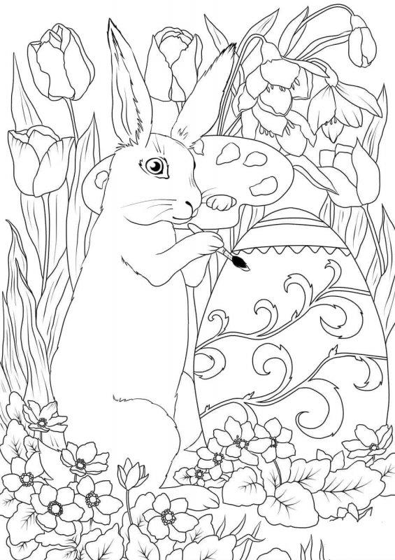 Desene Cu Iepurasi De Paste De Colorat Imagini și Planșe De