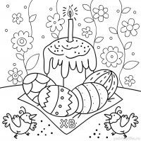 Desene de Paste de colorat, imagini și planșe de colorat cu paste