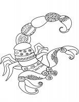 Desene cu Scorpioni de colorat, imagini și planșe de colorat cu Scorpioni