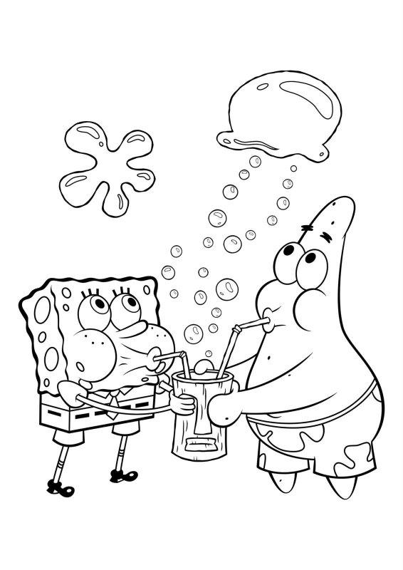 desene cu spongebob de colorat imagini și planșe de