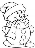 Desene cu Om de Zapada de colorat, imagini și planșe de colorat cu om de zapada