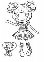 Desene cu Lalaloopsy de colorat, imagini și planșe de colorat cu Lalaloopsy
