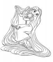 Desene cu Rapunzel de colorat, imagini și planșe de colorat cu Rapunzel
