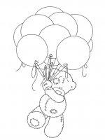 Desene cu Ursul Teddy de colorat, imagini și planșe de colorat cu Ursul Teddy