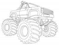 Desene cu Masini Monster Truck de colorat, imagini și planșe de colorat cu Masini Monster Truck