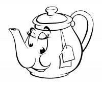 Desene cu Ceainic de colorat, imagini și planșe de colorat cu Ceainic