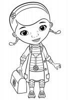 Desene cu Doctorita Plusica de colorat, imagini și planșe de colorat cu Doctorita Plusica