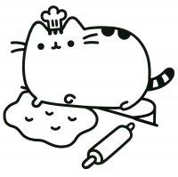 Desene cu Pusheen de colorat, imagini și planșe de colorat cu Pusheen