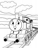 Desene cu Trenuletul Thomas de colorat, imagini și planșe de colorat cu locomotiva Thomas