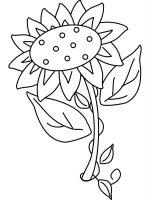 Desene cu Floarea Soarelui de colorat, imagini și planșe de colorat cu Floarea soarelui