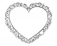 Desene cu Inimioare de colorat, imagini și planșe de colorat cu inima